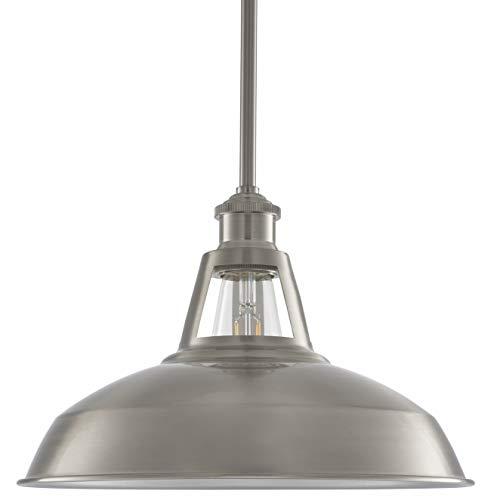 Olivera 12 inch Pendant Light | Brushed Nickel Pendant Lighting for Kitchen Island with LED Bulb ()