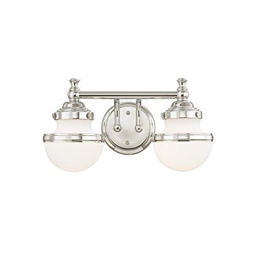 Livex Lighting 5712-05 Oldwick 2 Bath Light, Polished Chrome