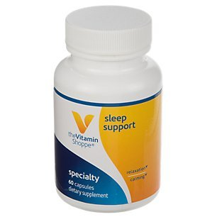 (The Vitamin Shoppe Sleep Support, with Melatonin, LTheanine, Valerian Root, GABA, and 5HTP, Supports Relaxation and Calming (60 Capsules))