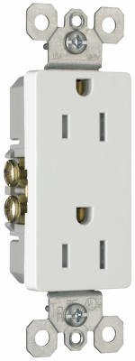 Pass & Seymour Outlet (Legrand - Pass & Seymour 885TRWCP7 Decorator Outlet, Tamper Resistant, 15-Amp, 125-volt, White, 10-Pack)