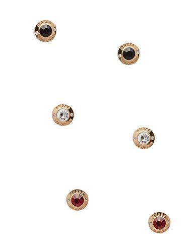 GUESS Factory Women's Gold-Tone Button Stone Earrings Set
