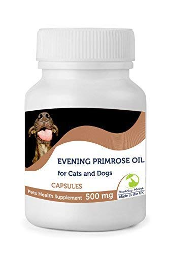 Aceite de Onagra 500mg para Gatos y Perros Mascotas 30/60/90/120