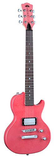 Luna AR ELECT PNK Aurora Mini Electric Guitar, Pink
