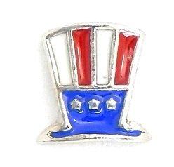 Cherityne Uncle Sam's Hat Floating Charm for Locket Pendants