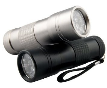 ブラックライト UV 紫外線ライト 12LED(ブラック)