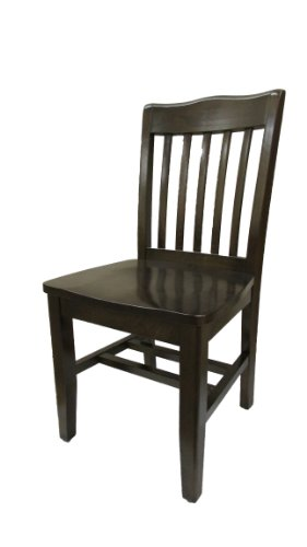 Schoolhouse Restaurant Chairs (Oak Street Manufacturing WC615WA Solid Walnut Wood Frame Schoolhouse Dining Chair with Walnut Wood Seat, 18