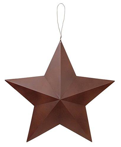 Darice Rustic Metal 3-D Star Hang Tag, 24