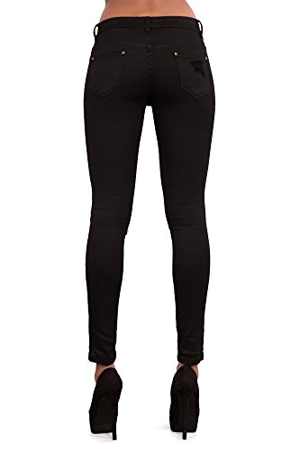 LustyChic - Vaqueros - para mujer Black Ripped Skinny Jeans