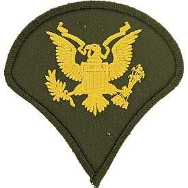 US Army, SPEC-4 - Decorative Patches, Embroidered Iron On Patch - -