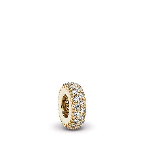 PANDORA Inspiration Within, Spacer Charm, Gold 14K, Cubic Zirconia, One Size