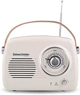 Vintage Cuisine Radio con Bluetooth 4.1 (Cream): Amazon.es ...
