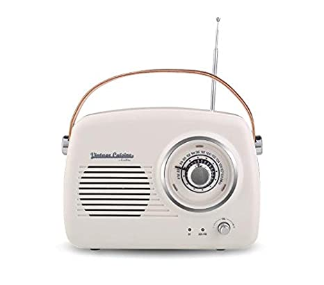 Vintage Cuisine Fm Radio With Bluetooth 4 1 Amazon Co Uk Electronics