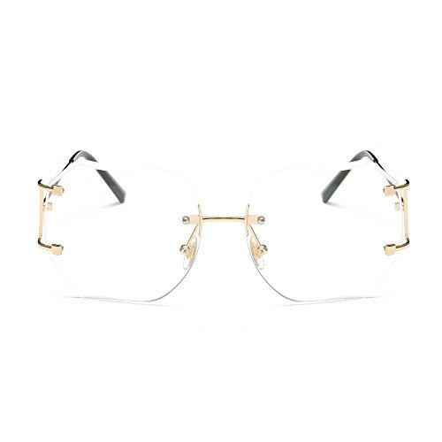 Lunettes De Soleil Covermason Hommes femmes lentille transparente verres  Spectacle Metal Frame myopie lunettes Lunette Femme ... 31d88bfc07c