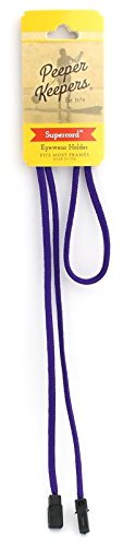 Peeper Keepers Retainer, Sunglasses Holder, Eyeglass Chain for Men and Women, Purple