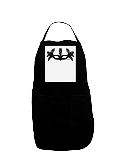 TooLoud Masquerade Mask Silhouette Panel Dark Adult Apron - Black - One-Size