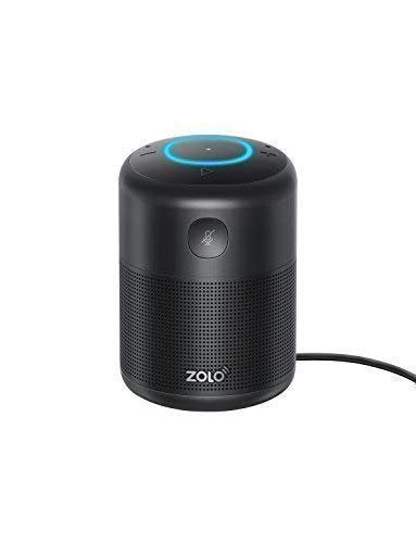 ZOLO Halo Bluetooth and Wi-Fi Smart Speaker with Alexa and Powerful Sound, Voice Control, and Stream Amazon Music Unlimited,Spotify,TuneIn, iHeartRadio, Control Smart Home Devices (18-Month Warranty)