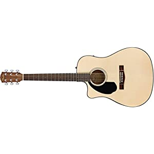 Fender CD-60SCE Dread LH Natural WN Westerngitarre