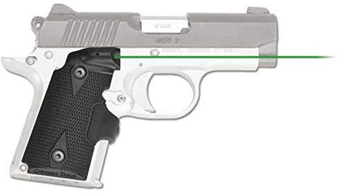 - Crimson Trace Hi-Brite Laser Grip Fits Kimber Micro 9 Rubber Wraparound Green Laser