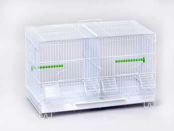 stack lock double breeder cage