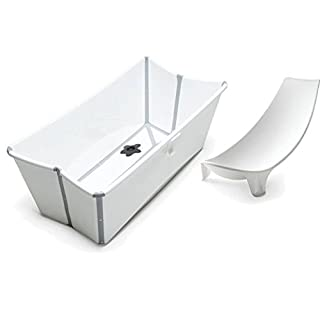 Stokke Flexi Bath in White with Newborn Support