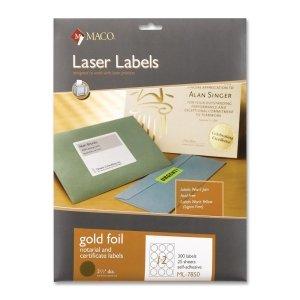 Round Foil Laser Label