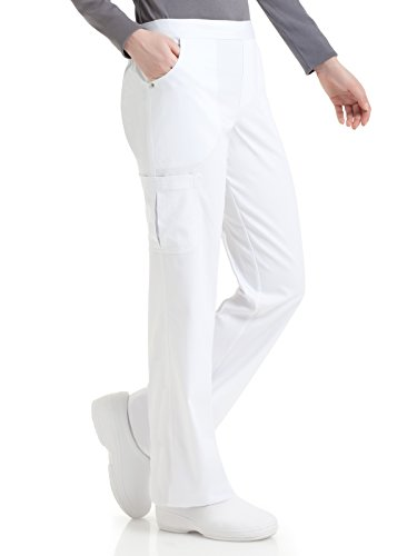 Urbane Women's Petite Bailey Cargo Scrub Pant, White, - Brand Clothing Bailey