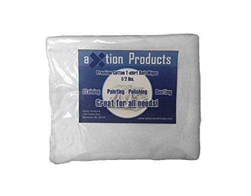 New White Rib knit Cloth Rags (1 lb)