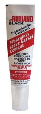 (Rutland Stove Gasket Cement 2000 Deg. F Black 2.3 Oz.)