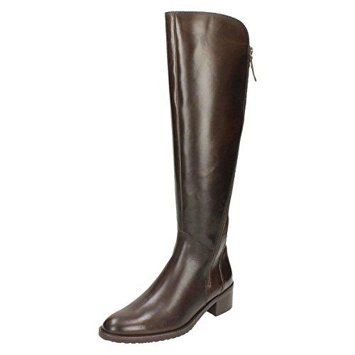 Clarks Valana Melrose Womens Long Boots Dark Brown