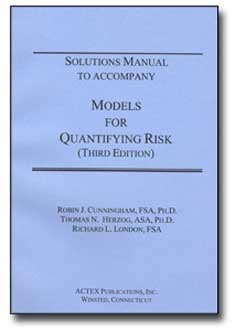 solutions manual to accompany models for quantifying risk 3rd rh amazon com Risk versus Return Models for Quantifying Risk
