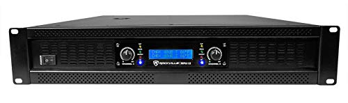 Rockville 5000 Watt Peak / 1400w RMS 2 Channel Power Amplifier Pro/DJ Amp (RPA12) 10 Space Combo Rack Case
