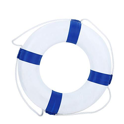 【メーカー包装済】 HuaHong 20インチ直径フォーム水泳リング ブルー - 子供用 水泳 プール ライフ ライフブイ 安全 ライフ プール 維持 外周ロープ付き ブルー B07H2SSMR4, 日田市:5819d4cb --- a0267596.xsph.ru