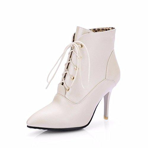 cashmere de zapatos Heels High piel Golden tamaño botas claro w818nqBx