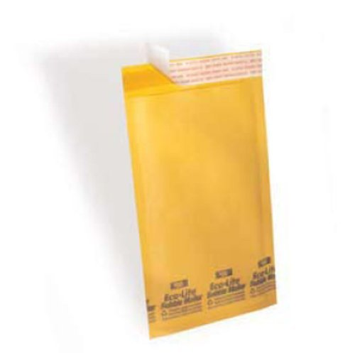 Polyair KBM10516-1-Case Eco-lite #5 ELSS5 Golden Kraft Self Seal Bubble Mailer, 10 1/2