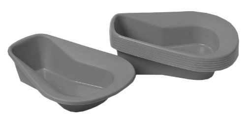 Medline DYND80245 Stack A Pans Bedpan, Graphite (Pack of 50) by Medline