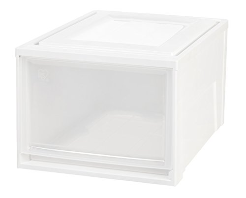 IRIS Deep Box Chest Drawer, White, 3 Pack ()