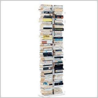 PTOLOMEO X2 Bücherregal freistehend komplett weiß
