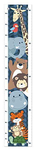 Cute Wild Animals Growth Chart Safari Theme Growth Chart for Kids Height Measurement Growth Chart ()