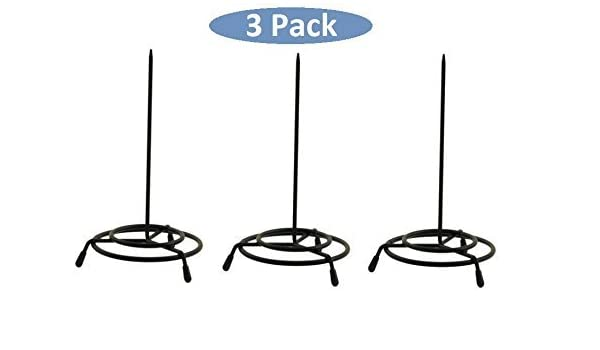 3 Pack 1InTheOffice Wire Receipt Spindle,Black Receipt Holder Black