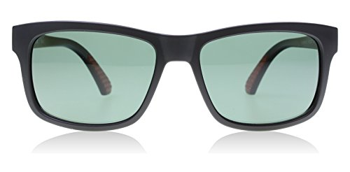Puma 0010S 001 Matte Black Foundation V1 Wayfarer Sunglasses Polarised Lens - Puma For Sunglasses Men