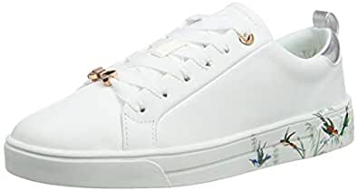 Ted Baker Roully Womens White Fortune Leather Trainers-UK 3 / EU 36
