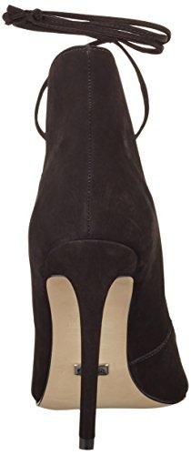 Buffalo Damen Zs 6077-15 Nobuck Pumps Schwarz (nero 01)