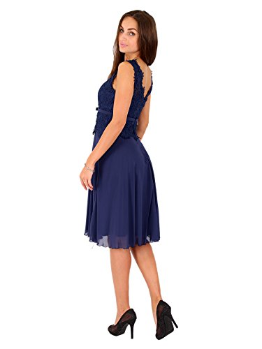 bis Chiffonkleid gr Marineblau Übergröße Ballkleid amp;Christine R1525 Cocktailkleid Abendkleid Juju 50 Festkleid 8w5ZaBq