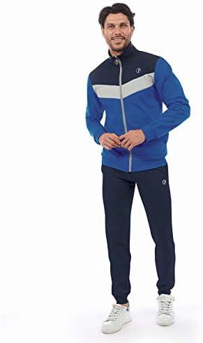 Full Zip Cotone Felpato Articolo scatolato nazarenogabrielli Tuta Uomo Disponibile in Due Varianti Colore