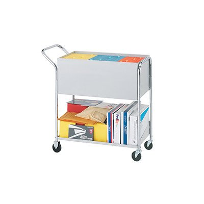 Charnstrom Medium Solid Metal Cart with 4'' Casters, Grey by Charnstrom