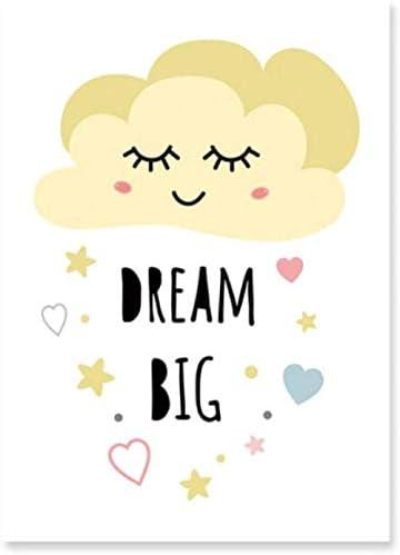 BUZDAO キャンバス絵画写真プリント装飾甘い夢黄色の保育園の装飾壁アートポスタープリント新しい女の赤ちゃん家の装飾フレームギフト