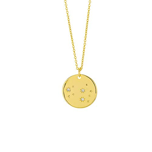 Columbus 14K Gold Plated Astrology Horoscope Constellation Zodiac Coin Necklace (Leo) by Columbus