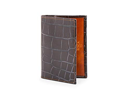 (Bosca Men's Calling Card Case in Vintage Crocco - RFID )