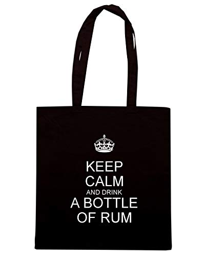 BOTTLE CALM A TKC2541 AND Speed DRINK KEEP Borsa OF Shirt Nera RUM Shopper 6Yvzfa1