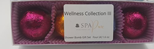 Wellness Collection III Aromatherapy Fizzing Shower Bombs by Spa Pure (Geranium Summer Showers)